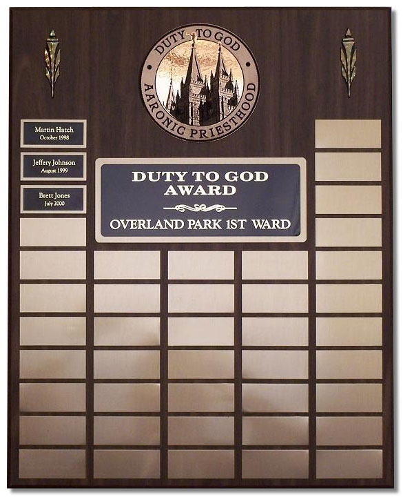 Medium Duty to God Plaque