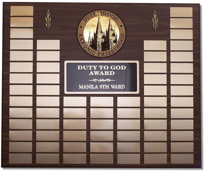 Large Duty to God Plaque