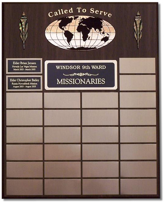 Small Missionary Plaque - Click Image to Close