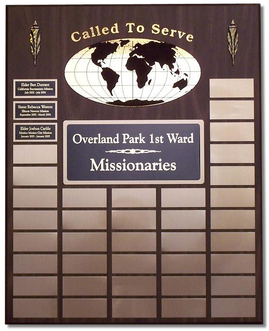 Medium Missionary Plaque