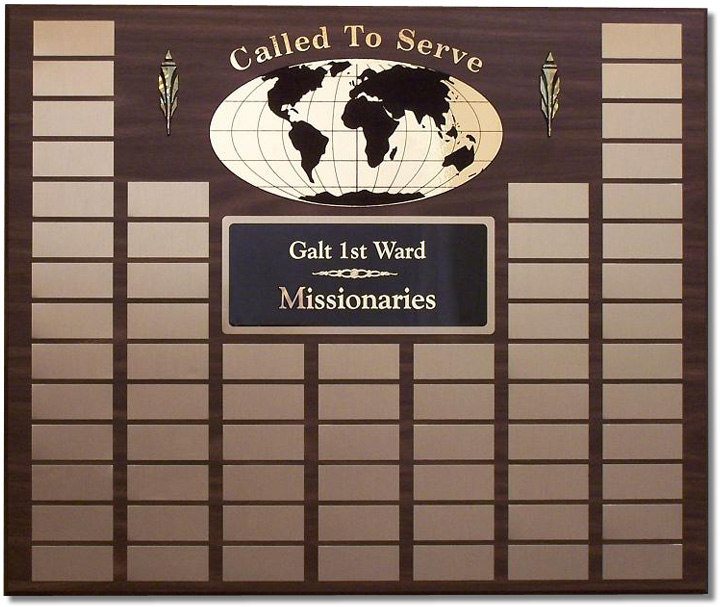 Large Missionary Plaque